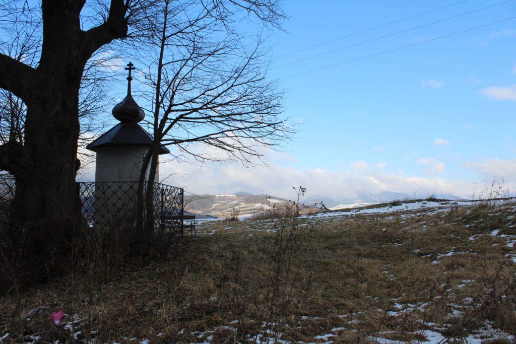 Chapel of Liptovské Sliače - Nižný, above the entryway to the town