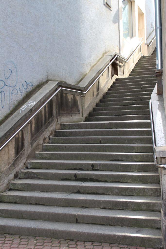 Ružomberské schody - schody na Mostovej ulici 01