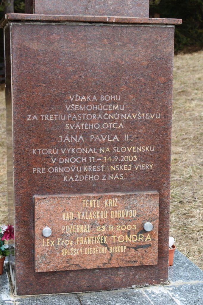 Kríž Jána Pavla II. Valaská Dubová 06