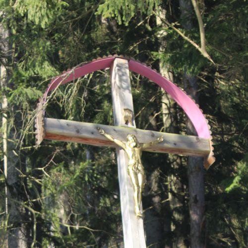 Kríž Nová Černová, areál u Dobrého pastiera