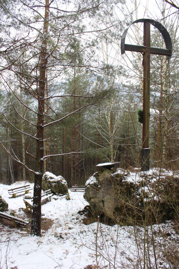 Kríž v lesoparku Hrboltová 04
