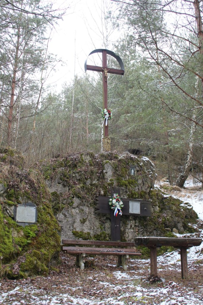 Kríž v lesoparku Hrboltová 05