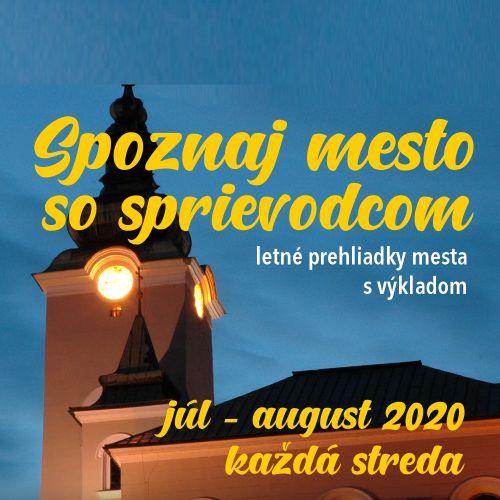 Pozývame vás na letné prehliadky mesta Ružomberok s výkladom.