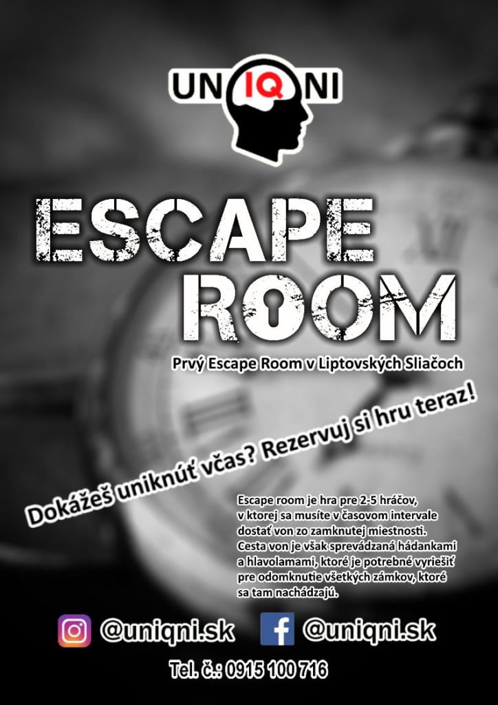 Escape Room Uniqni Liptovské Sliače