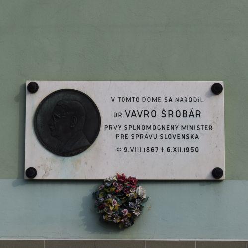 Birth House of Vavro Šrobár in Lisková