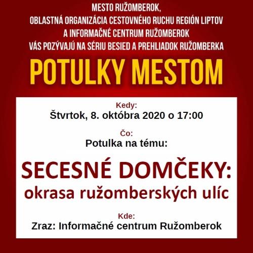 Pozývame vás na prehliadku mesta s témou: Palác Rakovských a secesné domčeky - okrasa ružomberských ulíc.