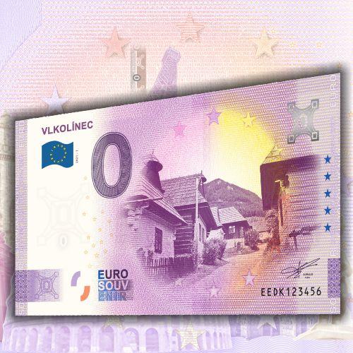Pre návštevníkov Vlkolínca a pre zberateľov nulových eurobankoviek je pripravená nulová eurobankovka Vlkolínec.