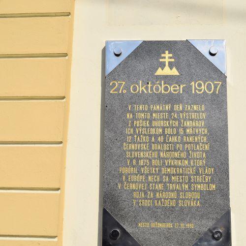 Place of the tragic event in Černová